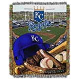 "The Northwest Company MLB Kansas City Royals Home Field Advantage Woven Tapestry Throw, 48"" x 60"""