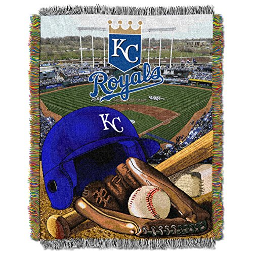 The Northwest Company MLB Kansas City Royals Home Field Advantage Woven Tapestry Throw, 48
