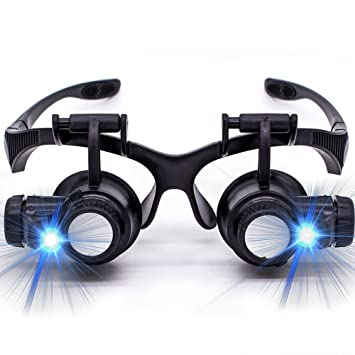 Oculos Lupa Cabeça 8 Lentes Led Alto Brilho Até 25x Aumento  Amazon ... 3bbb4f90b2