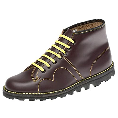 4c47b7c94c3 Grafters 60's Women's Leather Monkey Mod Boots In Wine Sizes 3-7