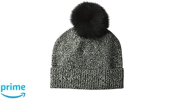 3874a893e Amazon.com: Sofia Cashmere Women's Cashmere Fur Pom Hat-Chunky ...