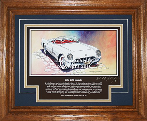 1953 Corvette Convertible with History Corvette Pictures Wall Decor Art Gift for - Corvette Pictures 1953