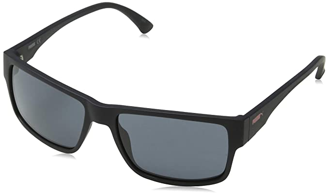 391793f4b3fa Puma 0015S 001 Matte Black Shoreditch Rectangle Sunglasses Lens Category 3  Size