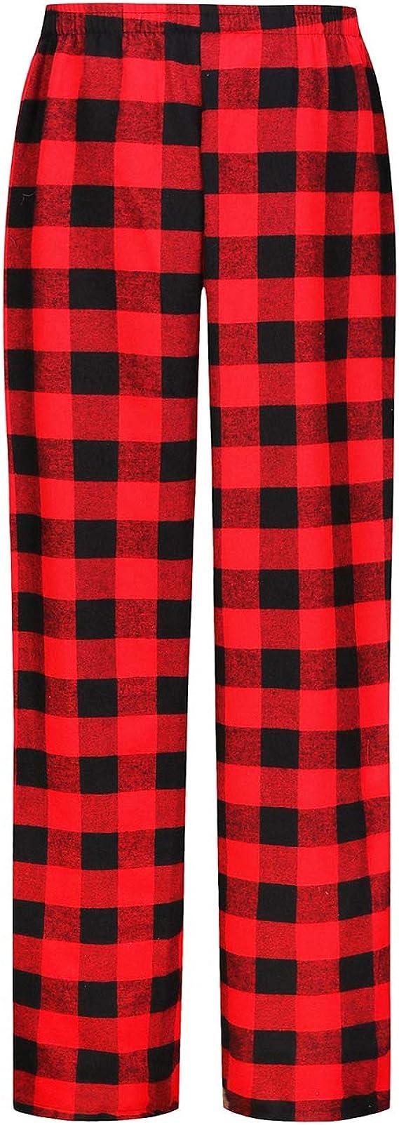 Coffret Cadeau pour Homme Pyjama Pantalon en Flanelle /à Carreaux