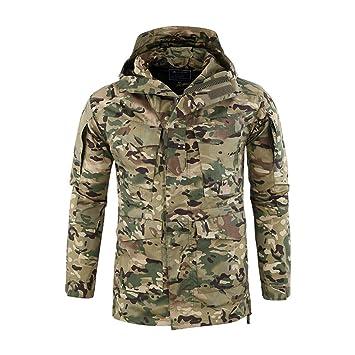 LUCKGXY Chaqueta táctica de los Hombres, Chaqueta Militar Sudadera Softshell Sportwear Ropa Impermeable para el