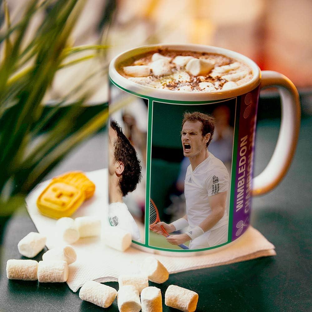 Andy Murray Wimbledon champion 2013 2016 tennis mug free gift box