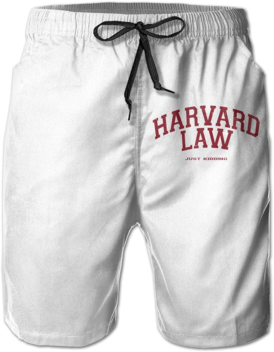 Harvard Law Just Kidding Men's Summer Surf Swim Trunks Beach Shorts Pants Quick Dry with Mesh Lining and Pockets 61OGEUATs4L