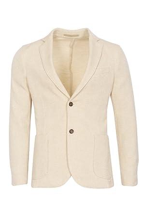 finest selection new style new high quality ELEVENTY Blazer Homme Ecru Seulement Blazer Crème 50 Slim ...