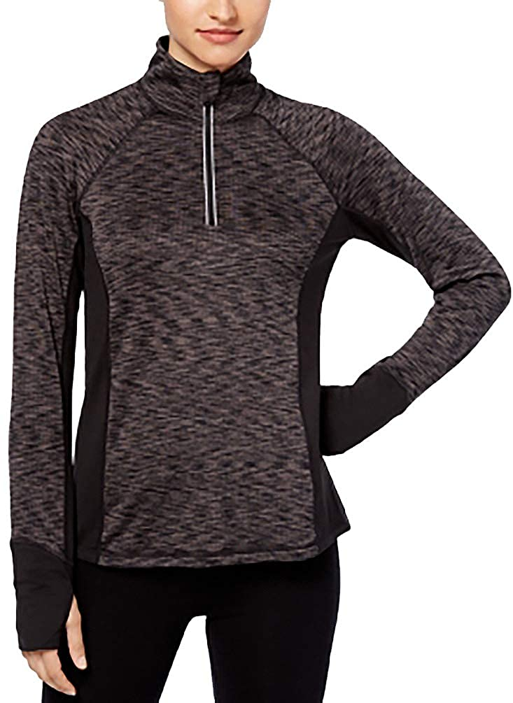 Ideology Womens Fitness Yoga 1//4 Zip Pullover 78022