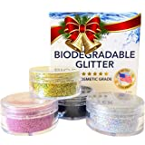 100% BIODEGRADABLE Cosmetic Grade Body Glitter   Chunky Silver Makeup on Amazon   Fine Rose Pink   Natural glitter for DIY Soaps, Bath