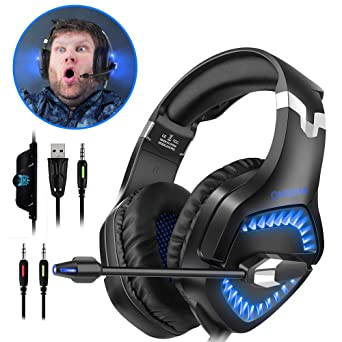 gaming headset for ps4 xbox one pc onikuma over ear gaming headphones compatible with nintendo - how to get fortnite audio through headset pc