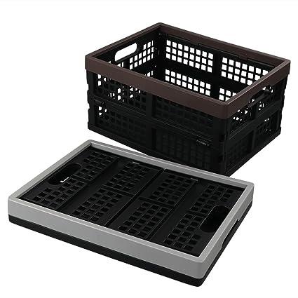 Cadine - Juego de 2 Cajas de Almacenamiento Plegables de plástico