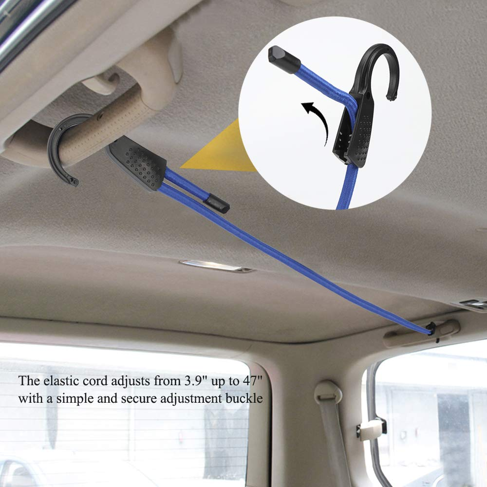 Vehicle,Camping Car Adjustable Cord-9.8ft Elastic Bungee Strap Rope -Luggage Racks Clothes Hanger Roof Rack for Cars SUV Trunks