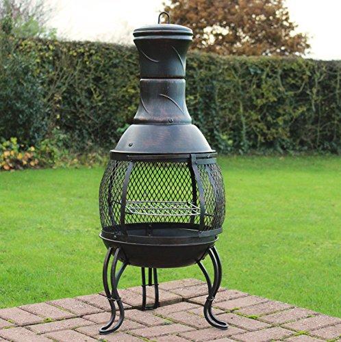 Outdoor Chiminea BBQ Heater