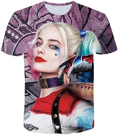 Unisex Camisetas Harley Quinn 3D Patrón Impreso Camisetas ...
