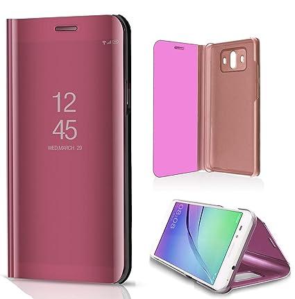 Amazon com: Huawei Mate 20Lite Flip Case, Portable Smart Mirror