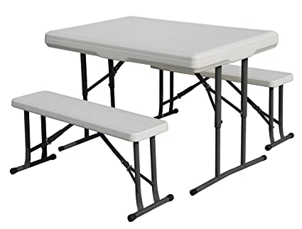 Amazon.com : Stansport Heavy Duty Picnic Table and Bench Set ...