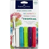 Faber Castell  Design Memory Craft Gelatos Color & Clear Stamp,  Tropical - 4 Colors Per Set