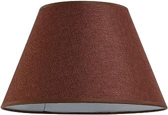 Pantalla de lino Tamaño personalizado, Cubiertas de pantalla para Lámpara de mesa Sala de estar Lámpara de pie Accesorios de iluminación Cubiertas Restaurante Hotel Decoración Pantalla grande,Marrón: Amazon.es: Iluminación