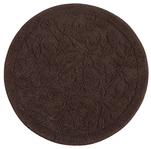 (Mohawk Home Foliage Chocolate Round Accent Rug, 3'x3')