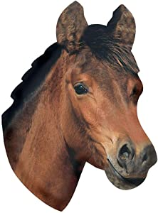 """Paper House Productions 3.5"""" x 2.5"""" Die-Cut Horse Head Shaped Magnet for Refrigerators and Lockers"""
