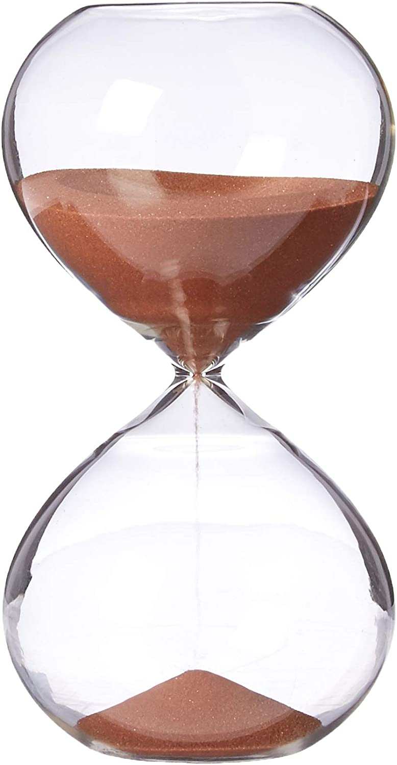 Copper Color Sand Inspired Glass//Home Biloba 4.8 Inch Puff Sand Timer//Hourglass 30 Minutes Office Decor Desk