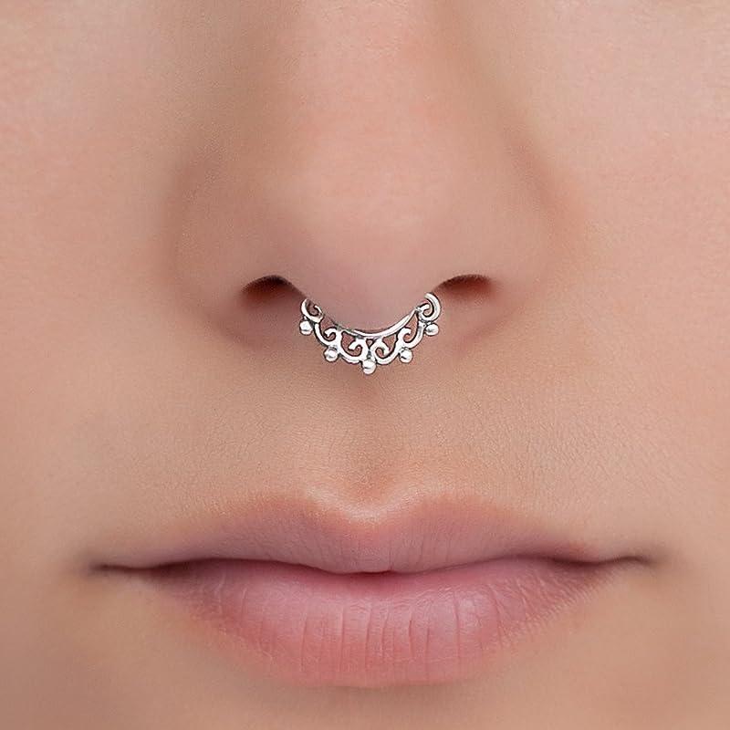 Covet Jewelry Divine Filigree Fake Septum Clip-On Ring