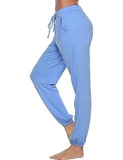 c4d6d5687 Aibrou Bas de Pyjama Femme 100% Coton Pantalon de Pyjama Femme ...