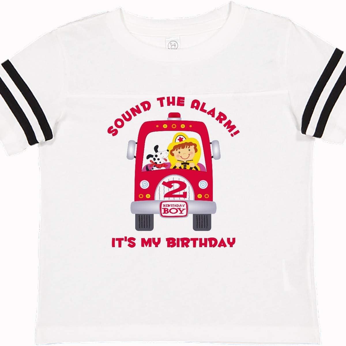 Inktastic 4th Birthday Fire Truck Toddler T-Shirt Engine Fourth Bday Gift Child
