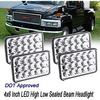 Amazon com: 4X6 LED Headlights for Chevrolet Chevy C4500