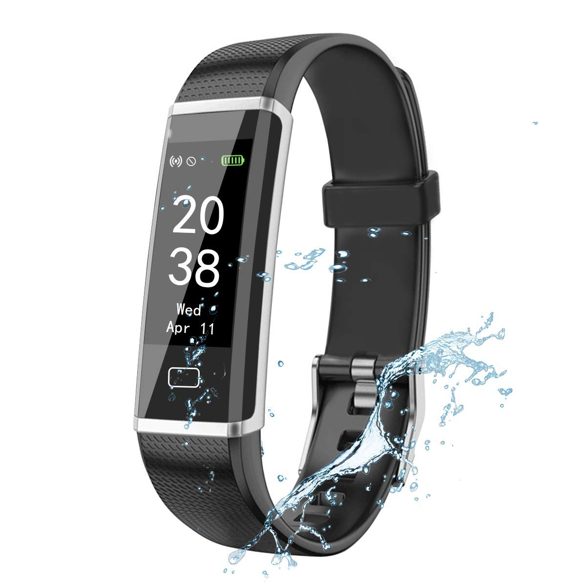FUELUS Multi-Functional Fitness Tracker Heart Rate Monitor Fitness Watch Has IP68 Waterproof, Motion Tracker and Sleep Monitor, Intelligent Bracelet Pedometer Wristband and A Variety of Motion Modes.