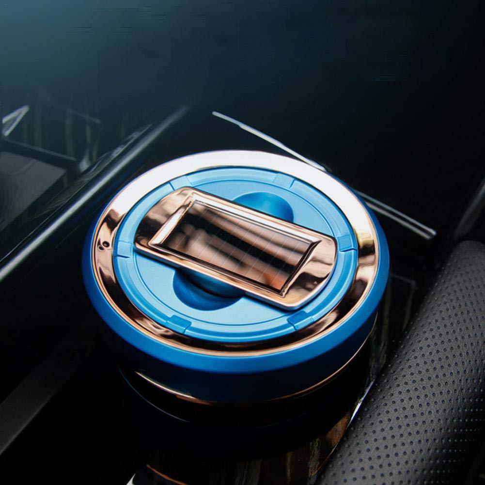 Beatie Auto Aschenbecher Portacenere Per Auto Wiederaufladbare Solar Energy LED Auto Aschenbecher Abnehmbarer Zigarettenanz/ünder Aschenbecher