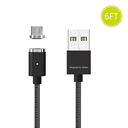 Amazon.com: WSKEN magnético Micro USB Cable – Android ...
