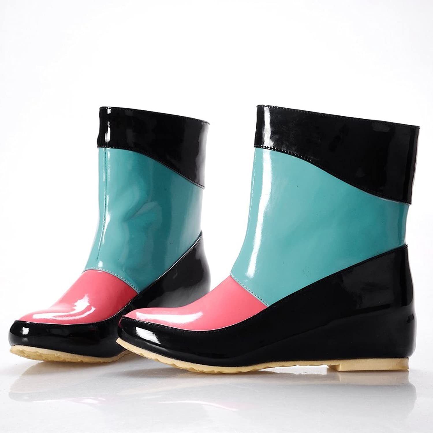 Retro Boots, Granny Boots, 70s Boots Susanny Lady Sweet Candy Color Slip Waterproof Rubber Transparent Snow Garden Rainboots $25.79 AT vintagedancer.com