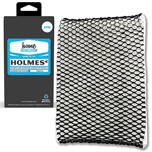 Home Revolution 2 Replacement Humidifier Filters, Fits Holmes, Sunbeam, and Bionaire Humidifier Models & Part HWF64 Filter (Fits Holmes Models)