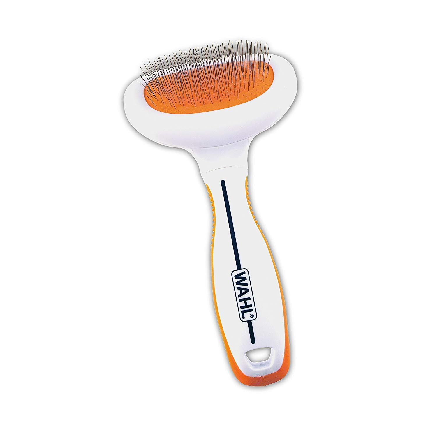 Wahl Premium Small Slicker Brush with Ergonomic Rubber Grips for Comfortable Brushing of Small Dogs & Cats - Model 858406