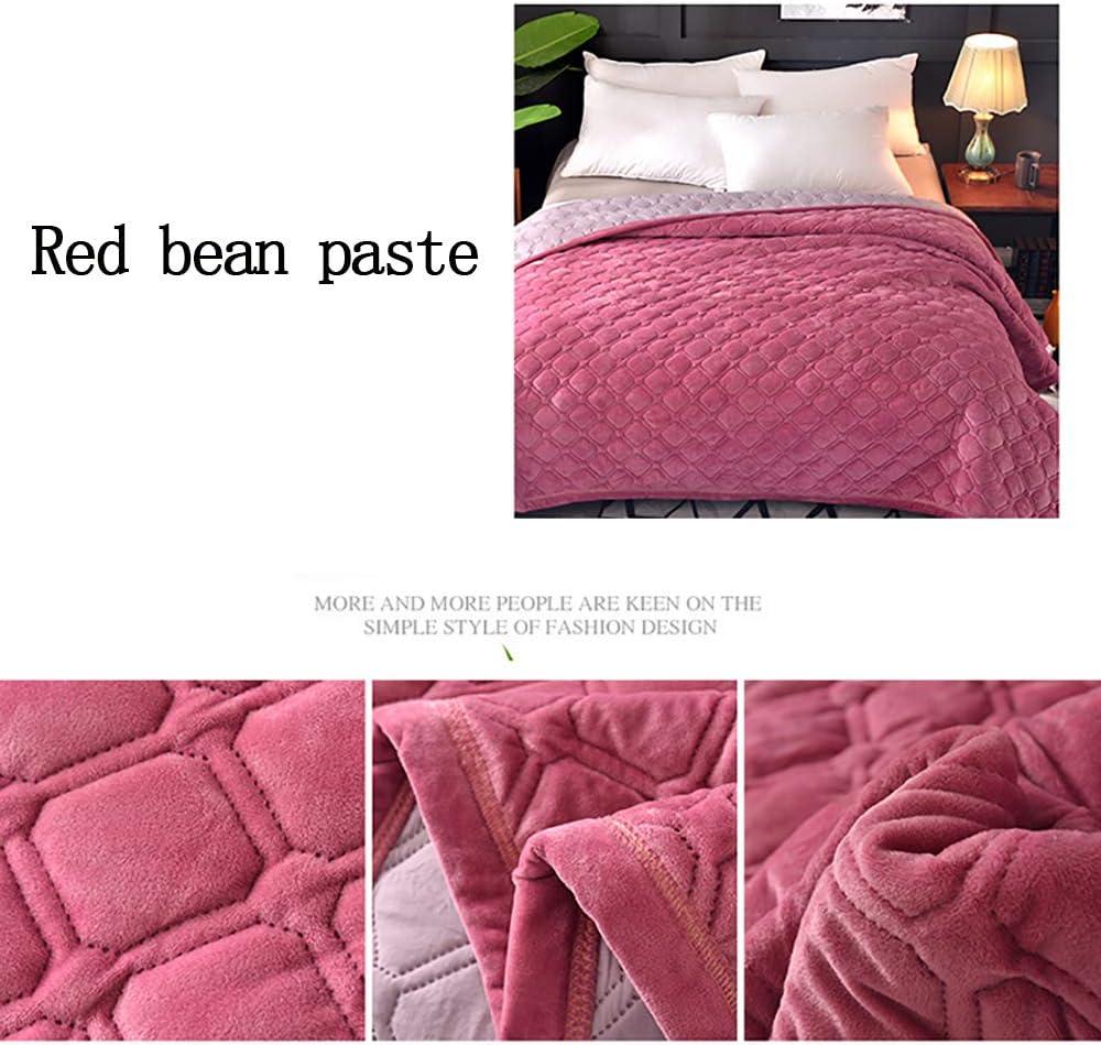 Rautenpr/ägung,Dark Green,150x200cm WUIO Tagesdecke Kristallsamt AB Version Schlafzimmer Soft Sofa Decke Einzel Doppel Einfarbig