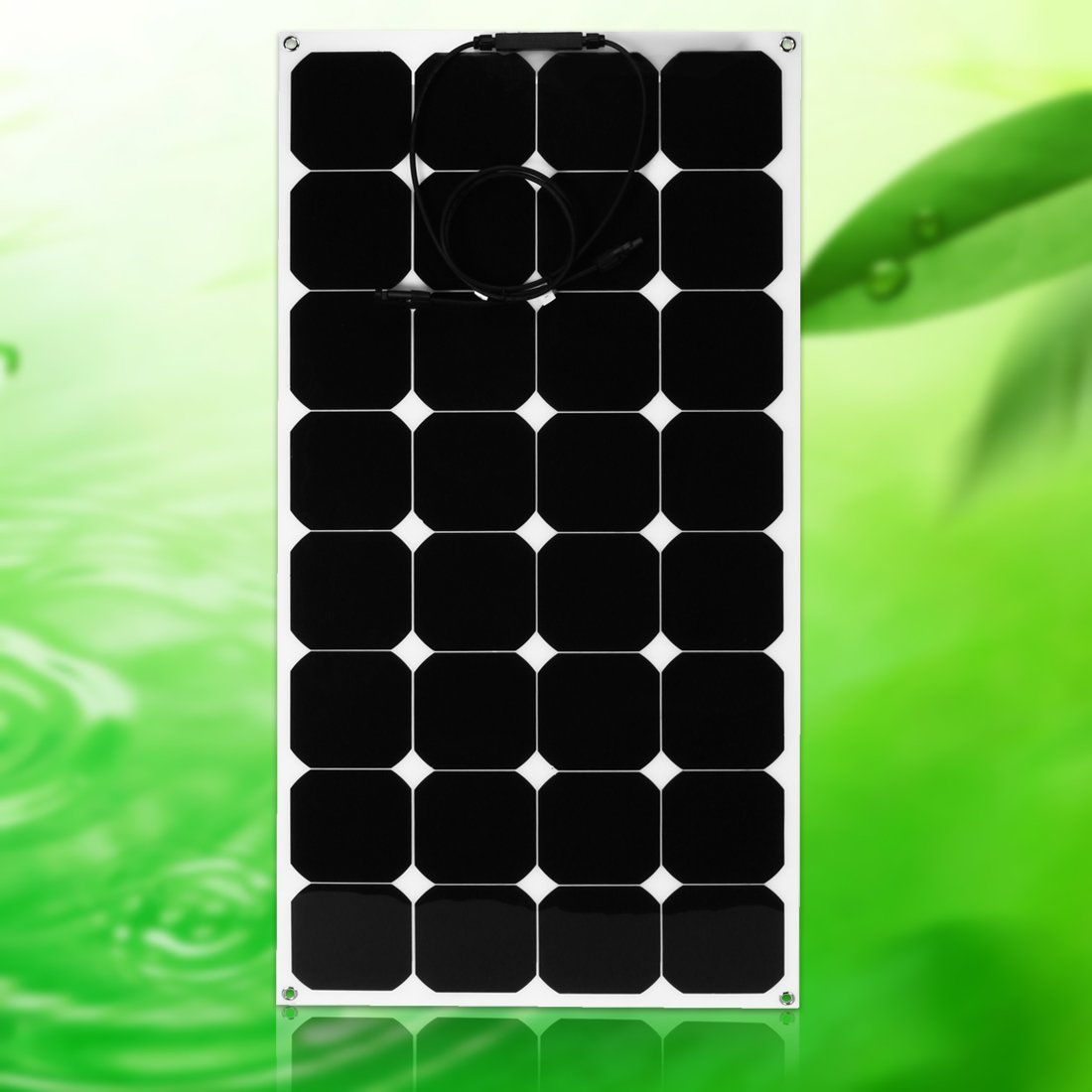 uxcell 2pcs 100W 18V 12V Solar Panel Charger Solar Cell Ultra Thin Flexible with MC4 Connector Charging for RV Boat Cabin Tent Car by BU LU SHI (Image #5)