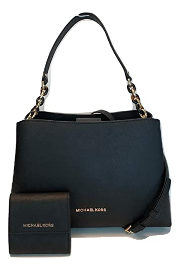 0bf811dde097 MICHAEL Michael Kors Sofia Large EW Satchel bundled with Michael Kors SM  Card Case Carryall Wallet