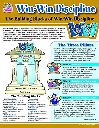 Kagan Cooperative Learning The Building Blocks of Win-Win Discipline Smartcard (TWBB)