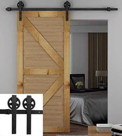 Amazon Antique Barn Door Hardware No Noise Steel Sliding Barn
