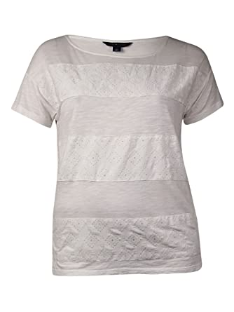 e5b92b4e Image Unavailable. Image not available for. Color: Tommy Hilfiger Women's  Embroidered Slub T-Shirt ...