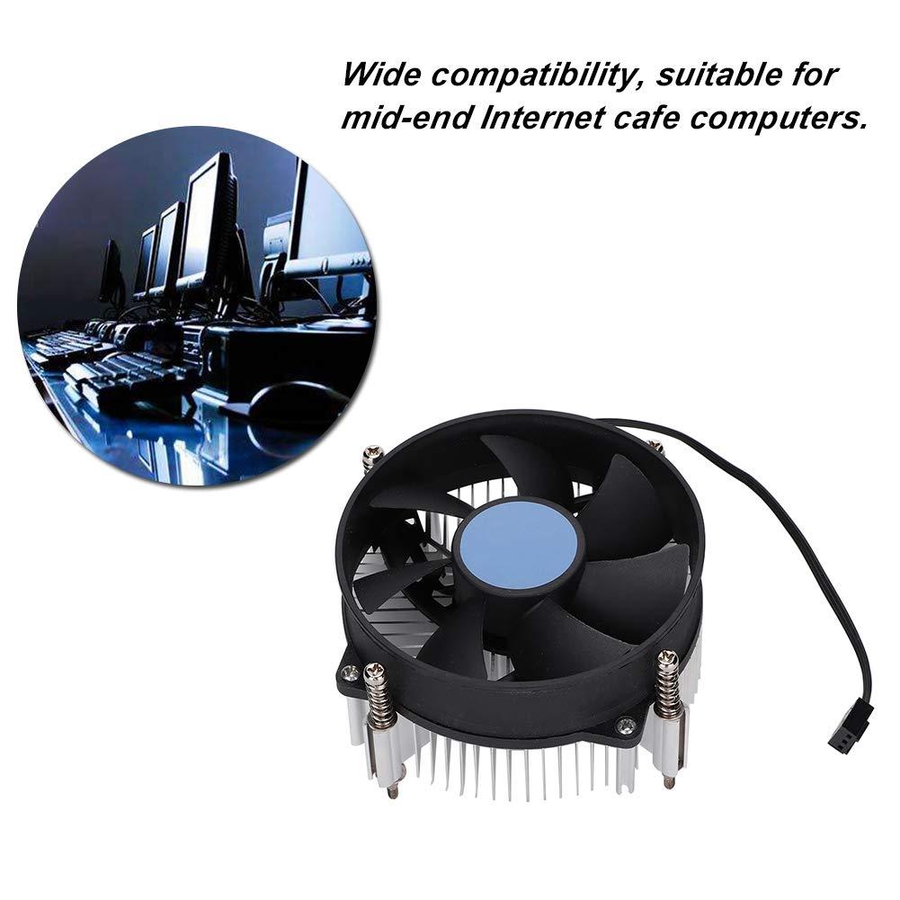 CT-8 Upgrade CPU Heatsink Computer CPU Cooling Fan 8-Hole Mounting Mute Computer Cooler CPU Radiator 2200 RPM 3P//4pin for Intel 115X//775 Standard