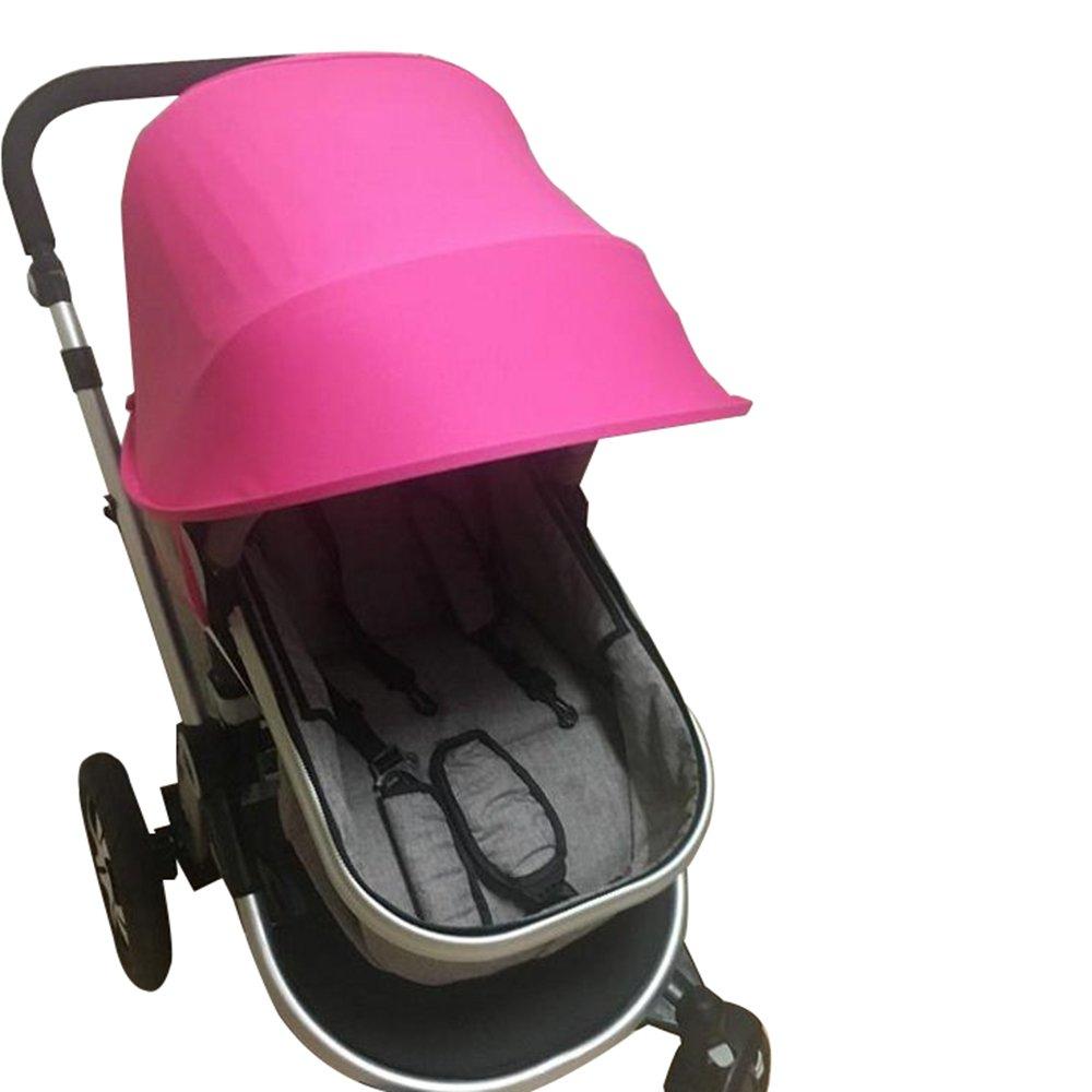 Baby Stroller Anti-UV Cloth Sun Shade Windproof Umbrella for Baby Stroller Universal Stroller Accessories (Pink) DongN