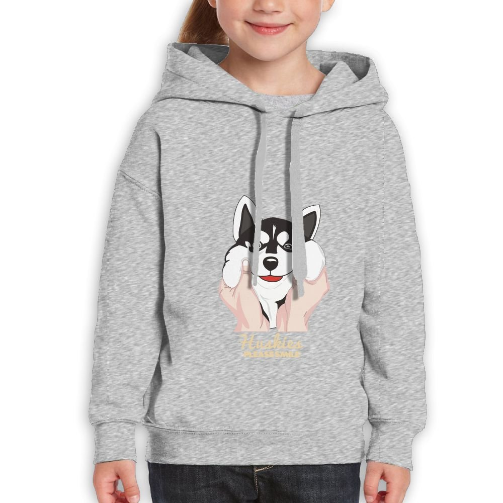 Fashion Boy's Sweatshirts,Comfortable Cute Siberian Husky Cotton Hoodie Pullover For Girls