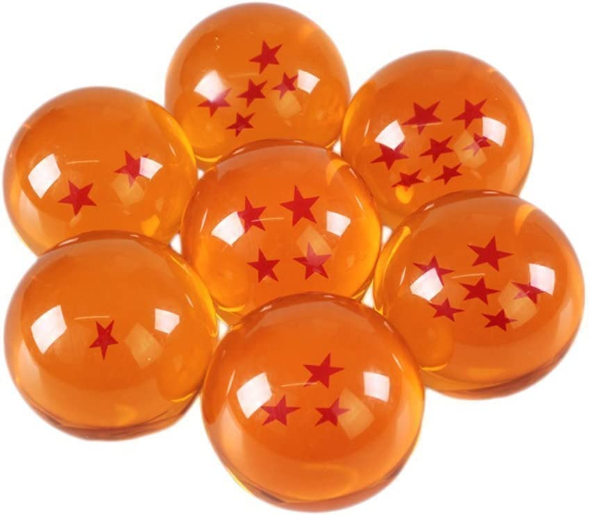 Katara 1737 - Dragon Ball Z con Caja - Juego de 7 Bolas de Dragón Son Goku con Estrellas Correspondientes - Cosplay
