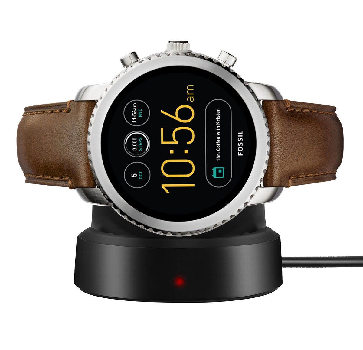 For Fossil Q Explorist Charger, Lamshaw Wireless Charging Dock Cradle Charger For Fossil Q Explorist (Chargeing Dock)