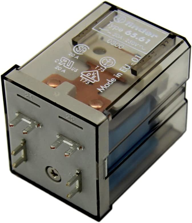 65.61.9.024.0300 Relay electromagnetic 24VDC 30A/250VAC 30A industrial FINDER