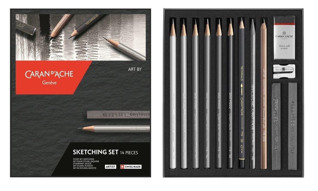 Caran Dache Sketching Set Drawing Detailing Illustration Art Set (14 Pieces) 776.714