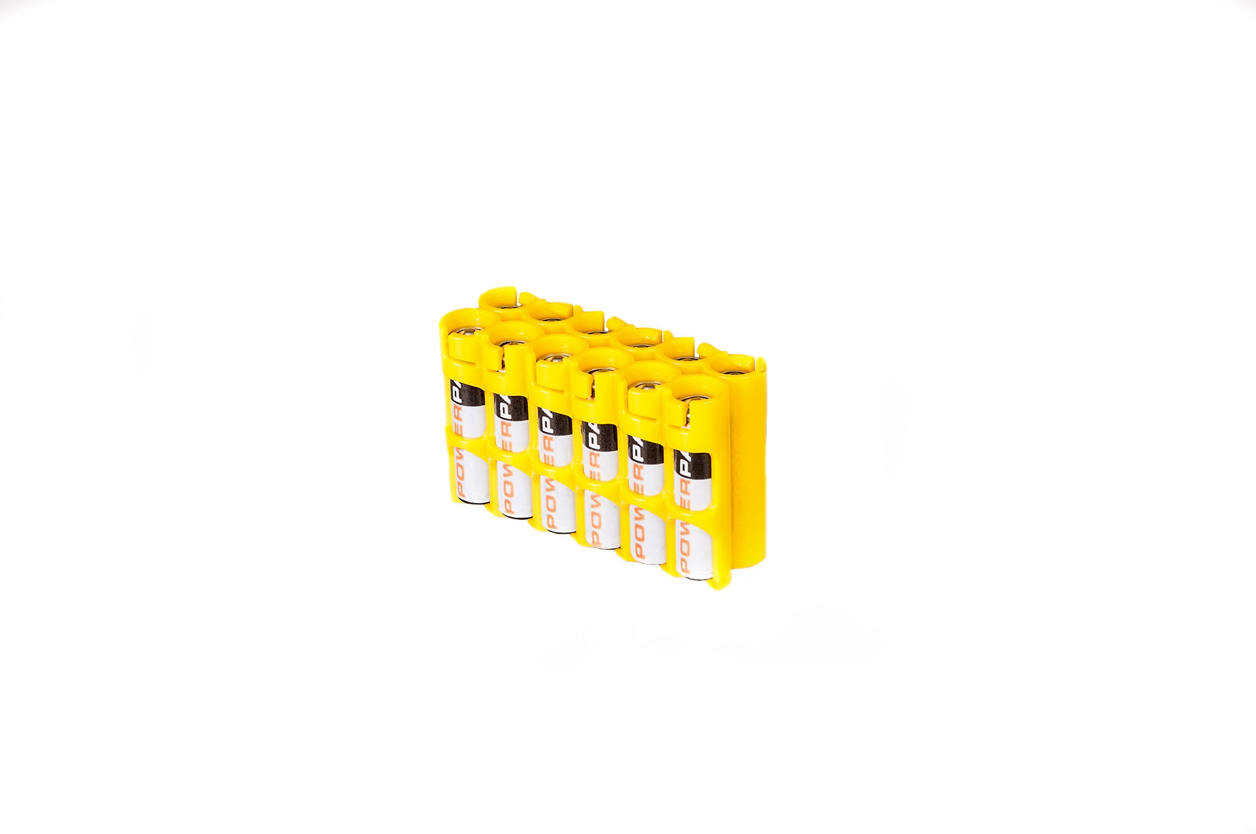 Storacell by Powerpax AAA Battery Caddy, Yellow, Holds 12 Batteries by Storacell (Image #1)